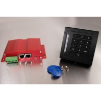 Access control device for electric lock with TCP/IP ethernet user interface
